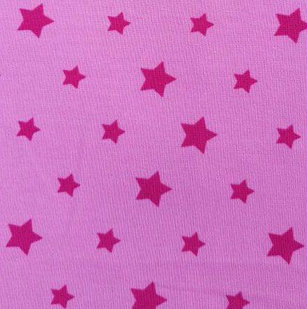 Jersey-Stoff Rosa Sterne