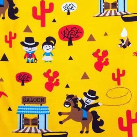 Baumwollstoff Cowboy gelb - bio