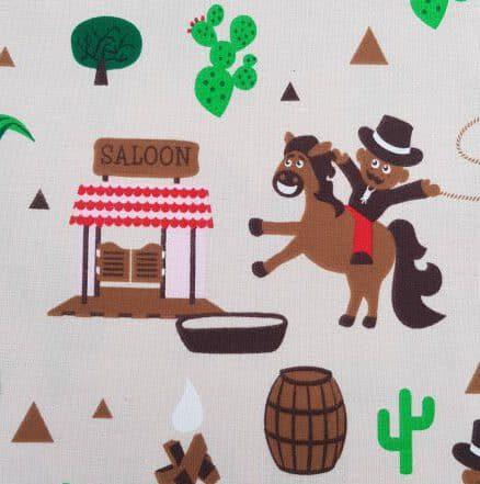 Baumwollstoff Cowboy - beige (bio)