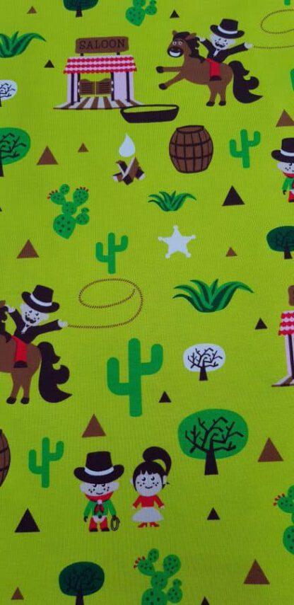 Baumwollstoff Cowboy - grün (bio)