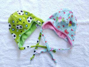 Individuelle Babymützen zum Binden
