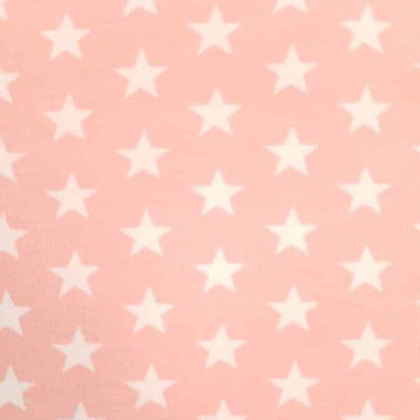 rosafarbener Stoff mit Sternen