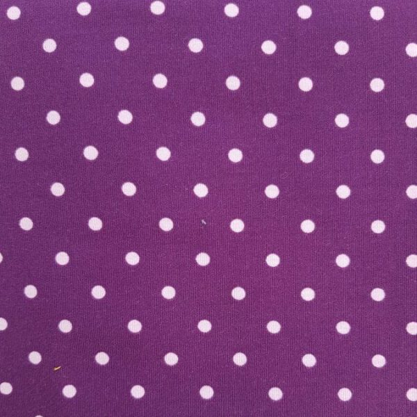 Jersey-Stoff Lila mit hellen Punkten