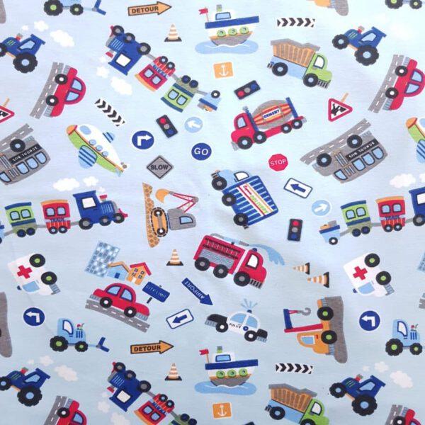 Jersey Fahrzeuge hellblau
