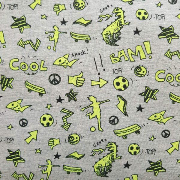 Baumwoll-Stoff Cool neongelb