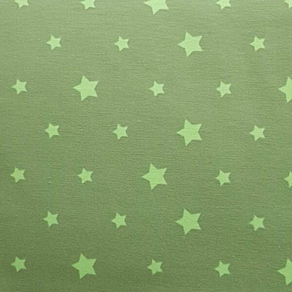 Baumwoll-Stoff Sterne grün