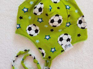 Bindemütze Fußball mit Alpenfleece Gr. 44-46 – Sofortkauf