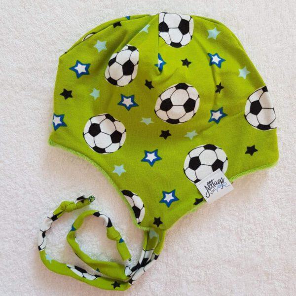 """Babymütze zum Binden """"Fußball"""""""