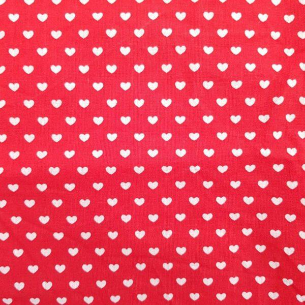 Baumwollstoff rote Herzchen