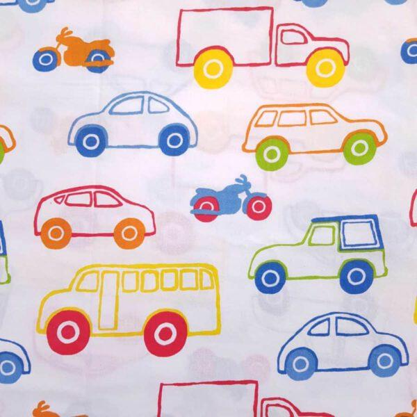 Baumwollstoff bunte Fahrzeuge