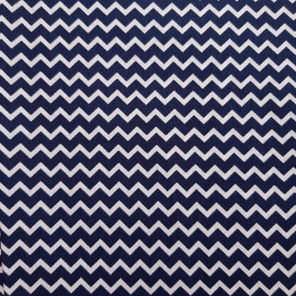 Baumwoll-Stoff blau Zickzack