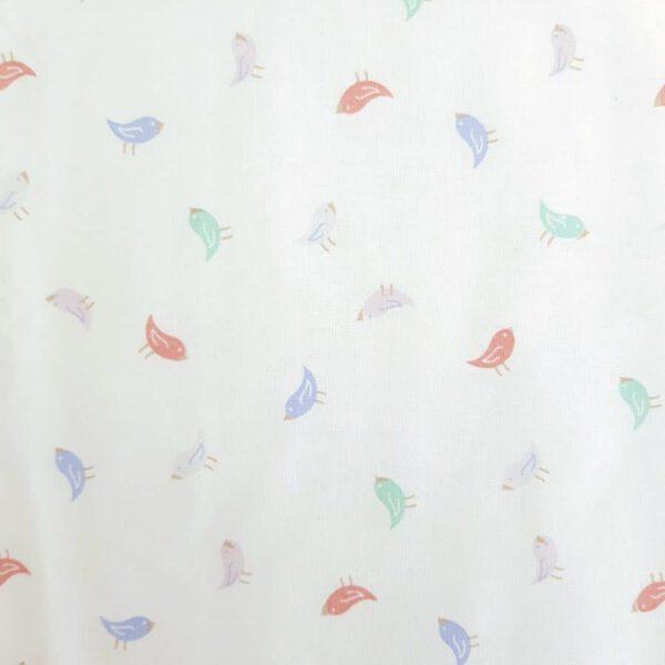 Baumwollstoff Kleine Vögelchen